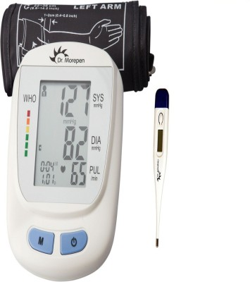 Dr. Morepen BP 09 Blood Pressure Monitor With MT 111 Thermometer Health Care Appliance Combo