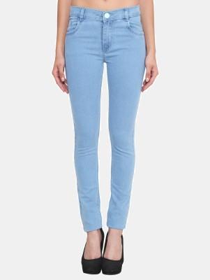 Crease & Clips Slim Women Light Blue Jeans