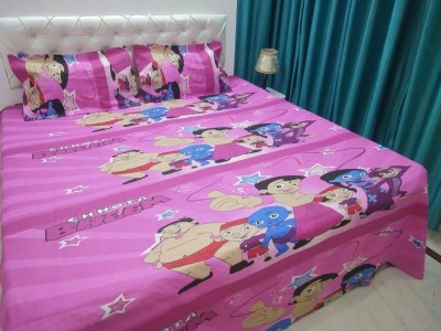 The Fresh Livery Cotton Double Floral Bedsheet