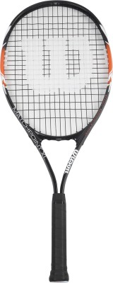 Wilson Match Point Black, Orange Strung Tennis Racquet