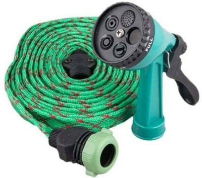 CheckSums 11138 Green 10 Mtr Pressure Washing Multifunctional Water Spray Jet Gun Hose Pipe For Car/Bike/Garden/Pet Wash High Pressure Washer