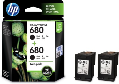 HP 680 Twin Pack Single Color Ink Cartridge