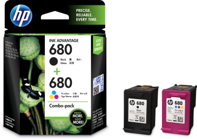 HP 680 combo pack Multi Color Ink Cartridge