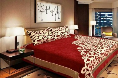 The Fresh Livery Velvet Double Abstract Bedsheet