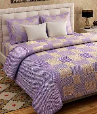 The Fresh Livery 220 TC Cotton Double Floral Bedsheet