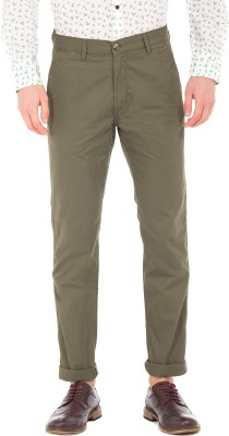 U.S. Polo Assn Slim Fit Men Green Trousers