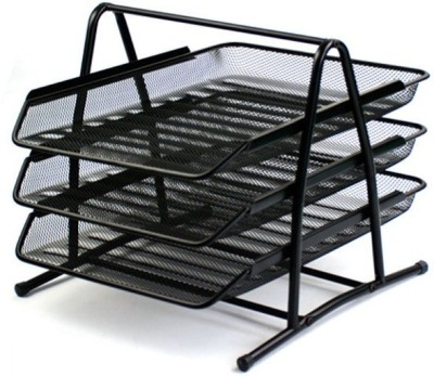 FullHouz 3 Compartments Metal Document Tray or Office File Rack