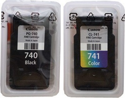 Canon PG-740 & PG-741 Both Black & Tri-Color Original Cartridge Valuable Pack Multi Color Ink