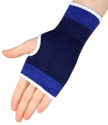Fitness Solutions Hand and Wrist glove Support For Gym. 1 pair Palm Support (Free Size, Blue)