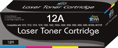 Print Star 12A Black Toner Cartridge / Q2612A HP 12A Black Toner Compatible / 	HP LaserJet 1010, 1012, 1015, 1018, 1020, 1022, 1022n, 3020, 3030, 3050, 3052, 3055, M1005, M1319f Single Color Ink Toner