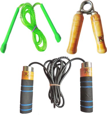 RIPR RX combo (Foam skipping rope, pencil skipping rope and hand gripper) Swimming Kit