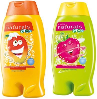 Avon Anew Naturals Kids Care Combo(Shampoo & Conditioner + 2-in-1 Bodywash & Bubble Bath)