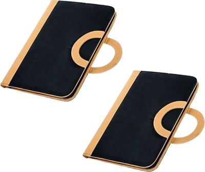 COI Faux Leather Designer Handle Black Document Folder / File Folder