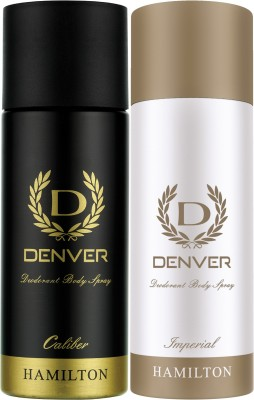 Denver Caliber and Imperial Combo (Pack of 2) Deodorant Spray  -  For Men