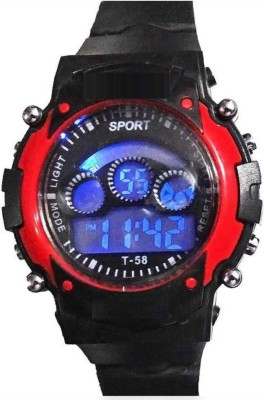 Sunflower Sports Black,Date Display,with Light kids Digital Watch  - For Boys