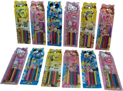 Parteet Pack of 12 Mix Stationery Kit Set for Kids