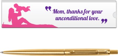 Parker Classic Gold GT with Mom Quote-4 Ball Pen