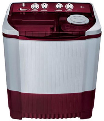 LG 8 kg Semi Automatic Top Load Washing Machine White, Maroon