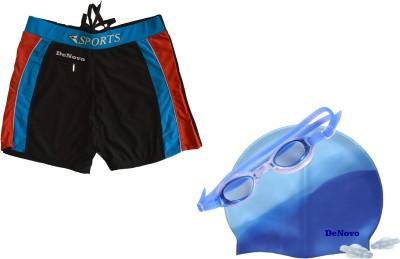 DeNovo Swim Cap Goggle Trunk (3XL Size) Swimming Kit
