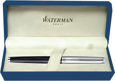 Waterman Hemisphere Dlx Silk Blk CT Roller Ball Pen