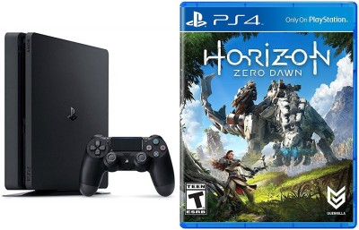Sony Sony PlayStation 4 Slim 1TB Console - Horizon: Zero Dawn Bundle PS4 + Extra Controller 1 TB GB with Horizon Zero Dawn
