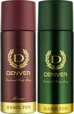 Denver Hamilton and Honour Deo Combo (Pack of 2) Deodorant Spray  -  For Men