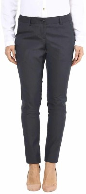 Annabelle by Pantaloons Slim Fit Women Grey Trousers