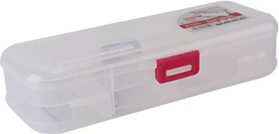 HOKIPO 8 Compartments Plastic Double Sided Small Storage Organizer Box with Removable Dividers