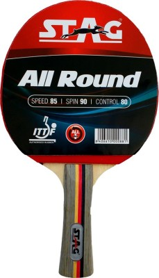 Stag All Round Table Tennis Racquet Red, Black Table Tennis Racquet