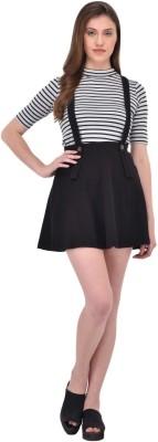 Rigo Solid Women's Regular Black Skirt