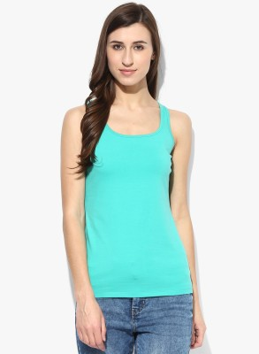 T Shirt Company Casual Sleeveless Solid Women's Grey Top