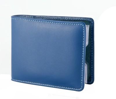 Dudu Women Formal Blue Genuine Leather Card Holder