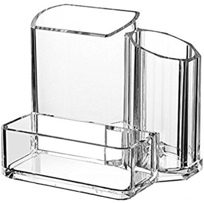 Evana 3 Compartments Acrylic Pen Stand