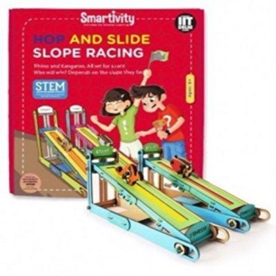 Smartivity Hop And Slide Slope Racing-Science Experiment Kit-DIY School Project-Kids Educational games-Learning book-Gift to 6 years & up