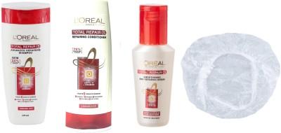 L'Oreal Paris Imported Total Repair <5 Advanced Repairing Shampoo 175ml+Conditioner 175ml+Serum 40ml+Shower Cap