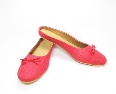 LooksFootwear Women Pink Bellies
