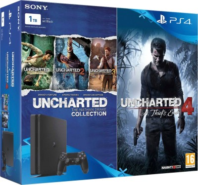 Sony PlayStation 4 (PS4) Slim 1 TB withUncharted 4 and Uncharted Collection