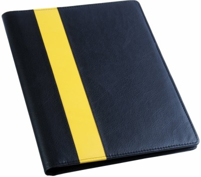 COI Faux Leather Fashionable Black And Yellow File Folder / Document Folder