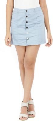 Forever 21 Solid Women A-line Light Blue Skirt