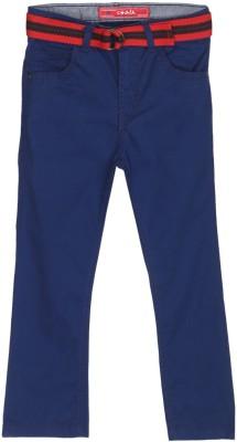 Chalk by Pantaloons Regular Fit Boy's Blue Trousers