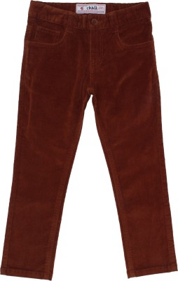 Chalk by Pantaloons Regular Fit Boy's Brown Trousers