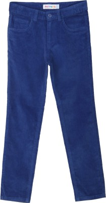 Poppers by Pantaloons Regular Fit Boy's Blue Trousers