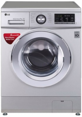 LG 7 kg Inverter Fully Automatic Front Load Washing Machine with In-built Heater Silver