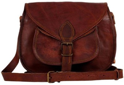Anshika International Vintage Leather Crossover Shoulder Girls Purse For Girl Women Ladies - For Office College School Outing Hangout Casual Places | Discount | Sale| Gift | Diva's Bag | Enough Space | Looks Elegant | Branded | Value For Money | Long Serving | Never Out Of Fashion | Latest Bag Brown Sling Bag