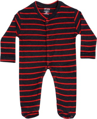 Gkidz Baby Boys & Baby Girls Black, Red Sleepsuit