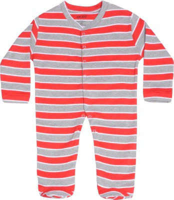 Gkidz Baby Boys & Baby Girls Red Sleepsuit