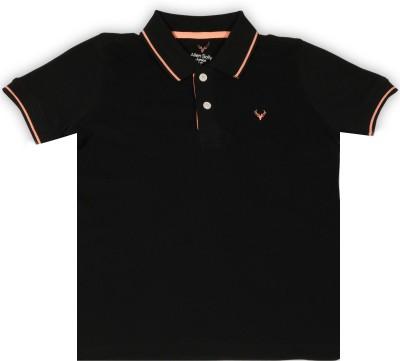 Allen Solly Junior Boys Solid Cotton T Shirt