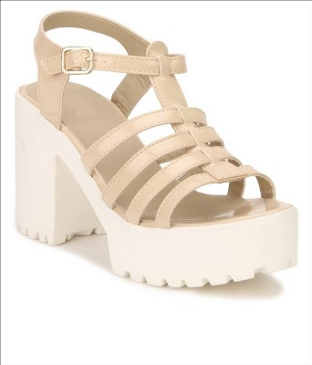 Shoe Cloud Women Beige Heels