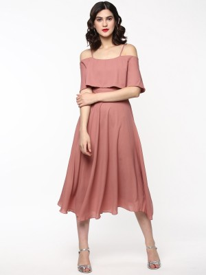 Sassafras Women Layered Pink Dress