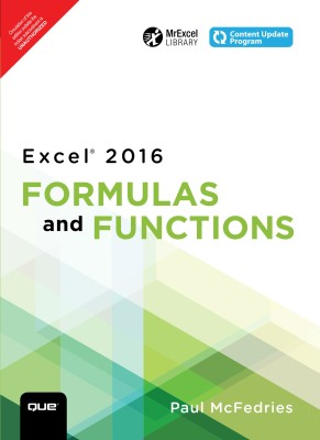 Excel 2016 - Formulas and Functions First Edition